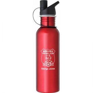 Red Water Bottle in 2 sizes