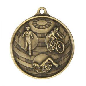 1073-15BR: Global Medal-Triathlon