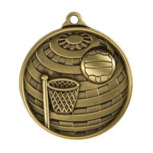 1073-8BR: Global Medal-Netball