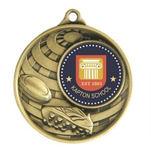 1073C-6BR: Global Medal -Rugby + 25mm insert