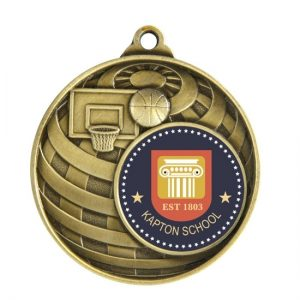 1073C-7BR: Global Medal -Basketball + 25mm insert