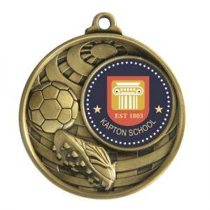 1073C-9BR: Global Medal -Football + 25mm insert