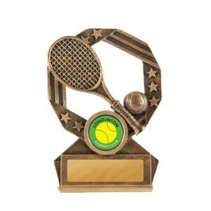 Bronzed Aussie Series Tennis Trophy With 25mm Centre