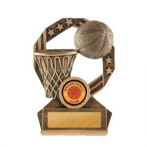Bronzed Aussie Basketball Trophy With 25mm Centre