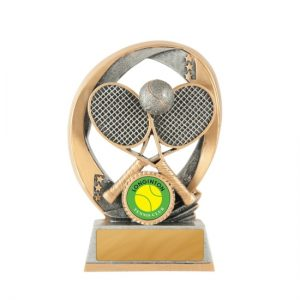 Elliptical Series Tennis Trophy With 25mm Centre