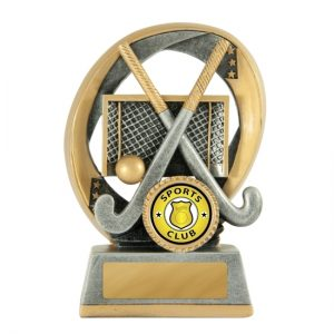 Elliptical Hockey Trophy With 25mm Centre