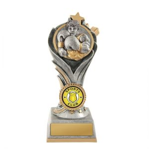 Flame Tower Boxing Trophy With 25mm Centre