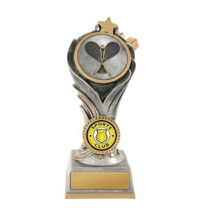 Flame Tower Squash Trophy With 25mm Centre