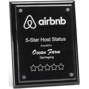 Premium Black Floating Plaque