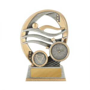 Elliptical Series Swimming Trophy With 25mm Centre