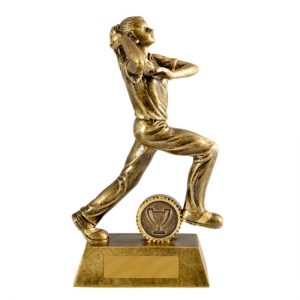 All Action Series Bowler Female Cricket Trophy With 25mm Centre