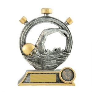 Beating the Clock Series Swimming Trophy With 25mm Centre