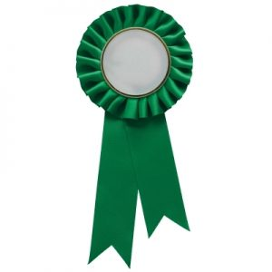 Green Rosette w/ Clip 210mm