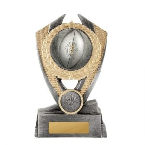 Aussie Rules Trophy With 25mm Centre