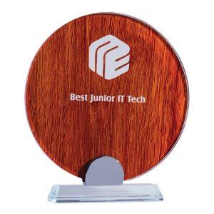 Jarrah Laser Glass Circle Award