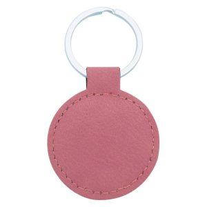 Leatherette Keychain – Pink