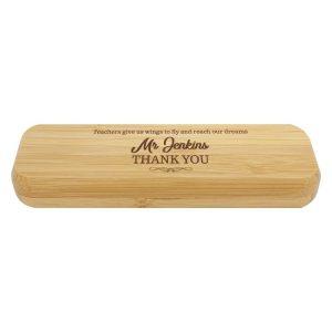 Bamboo Pen Box – Double